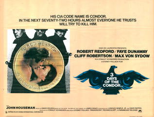 3 Days Of The Condor 1975 Quad Poster