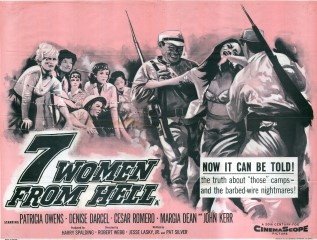 7 Women From Hell 1961 Quad British poster