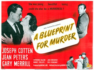 A Blueprint for Murder 1953 Quad UK Poster