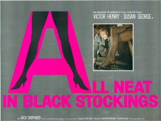 All Neat In Black Stockings 1969 Quad British Poster