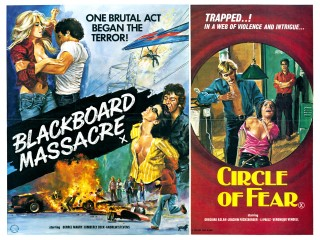 Blackboard Massacre Circle of Fear 1976 Quad Poster