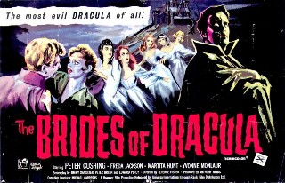 The Brides of Dracula 1960 Window Poster