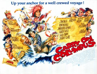 Carry On Columbus 1992 Quad UK Poster