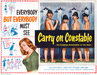 Carry on Constable 1960 US Half Sheet