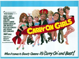 Carry on Girls 1973 Quad Poster