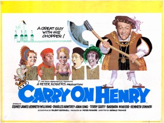 Carry on Henry 1971 Quad Poster