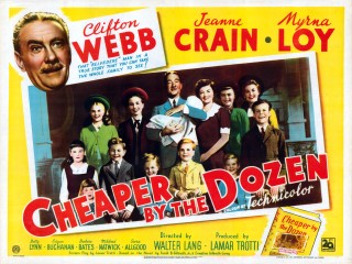 Cheaper by the Dozen 1950 Quad Poster