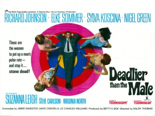 Deadlier Than The Male 1965 Quad Poster