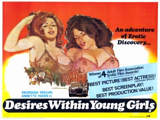 Desires Within Young Girls 1977 Quad Poster
