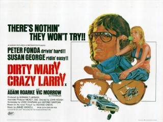 Dirty Mary Crazy Larry 1974 Quad Poster