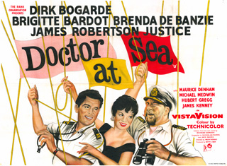 Doctor at Sea 1954 UK Quad Poster