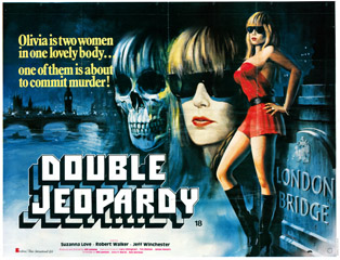 Double Jeopardy 1983 Quad Poster Chantrell