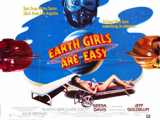 Earth Girls Are Easy 1988 Quad UK Poster