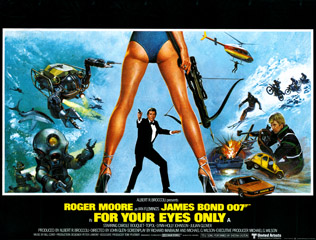 For Your Eyes Only 1981 Quad Art Bill Gold