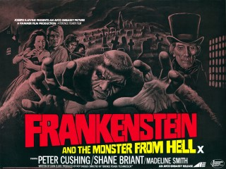 Frankenstein and the Monster From Hell 1974 Quad Poster