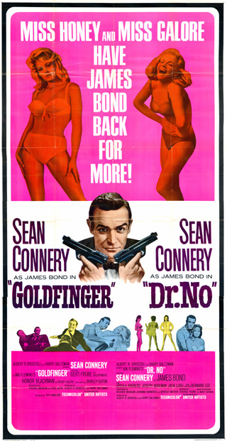 Goldfinger 1964 Dr No 1962 3 Sheet Poster