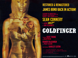 Goldfinger 1964 Quad 2007 re-release