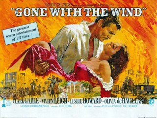Gone With The Wind 1980 Re-Release Quad Poster