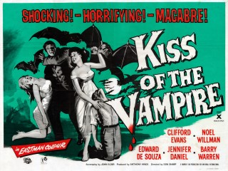 Kiss of the Vampire 1963 Quad poster