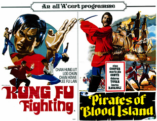 Kung Fu Fighting - Pirates of Blood Island 1972 Quad Double Bill