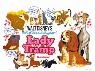 Lady and the Tramp Quad Poster
