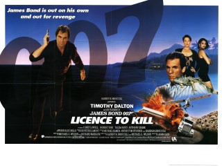Licence to Kill 1989 Quad British Poster