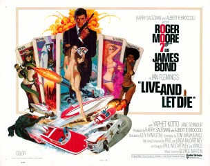 Live and Let Die 1973 US Half Sheet Art Robert McGinnis