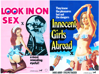 Look In On Sex 1973 Innocent Girls Abroad 1972 Quad Poster