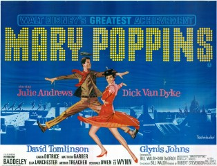 Mary Poppins 1964 British Quad Poster