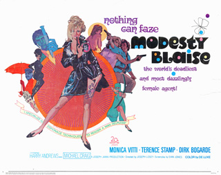 Modesty Blaise 1966 Half Sheet Bob Peak