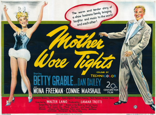 Mother Wore Tights 1947 Quad British poster