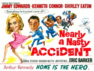 Nearly A Nasty Accident 1961 Quad Poster