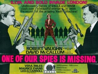 One of Our Spies is Missing 1966 Quad British Poster
