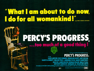 Percy's Progress 1974 Quad Poster