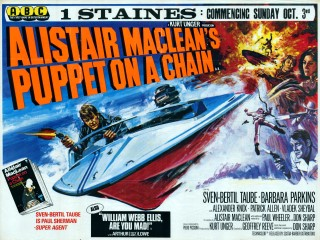 Puppet On A Chain 1970 Quad poster