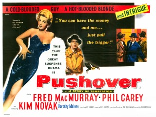 Pushover 1954 Quad British Poster