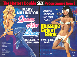 Queen Of The Blues 1979 Massage Girls of B'Kok  UK Quad Poster