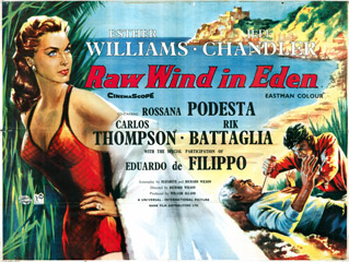 Raw Wind In Eden 1958 Quad British poster