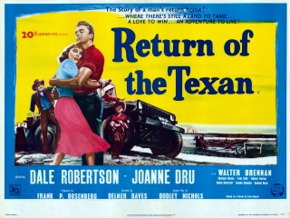 Return of the Texan 1952 Quad Poster