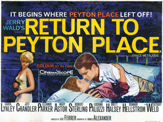 Return to Peyton Place 1961 Quad Tom Chantrell