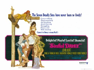 Sinful Davey 1969 Quad Poster Robert McGinnis