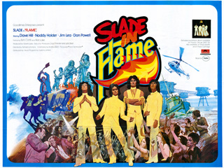 Slade in Flame1975 Quad British Poster