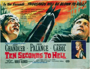 Ten Seconds to Hell 1959 Quad Hammer Poster