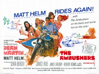 The Ambushers 1967 Quad Robert McGinnis