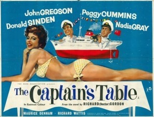 The Captains Table 1959 Quad British Poster