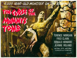 The Curse of the Mummys Tomb 1964 Quad poster