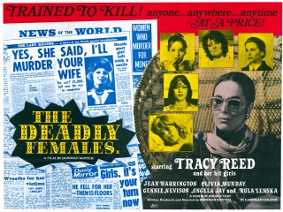 The Deadly Females 1976 Quad UK Poster