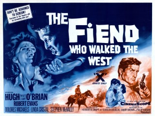 The Fiend Who Walked The West 1958 Quad poster