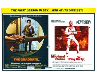 The Graduate 1967 Play Dirty 1968 British quad poster