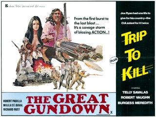 The Great Gundown 1977 Trip to Kill 1971 Double Bill Quad Art John Solie